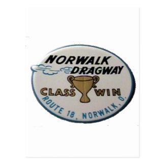 Norwalk Dragway Postcard