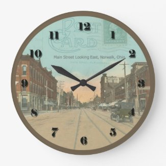 Norwalk Ohio Post Card Clock 1912