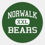Norwalk - osos - alta - Norwalk Connecticut Etiquetas Redondas