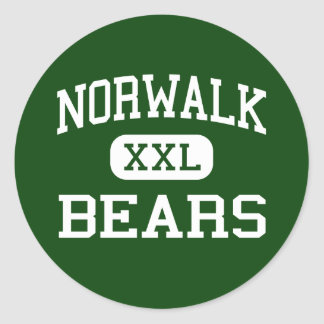 Norwalk - osos - alta - Norwalk Connecticut Pegatina Redonda