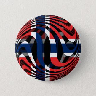 Norway #1 pinback button