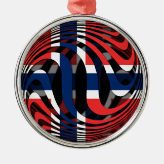 Norway #1 round metal christmas ornament
