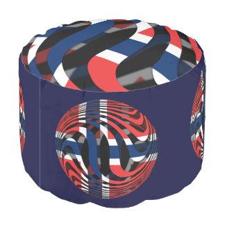 Norway #1 round pouf