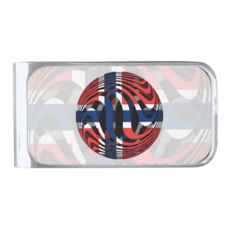 Norway #1 silver finish money clip