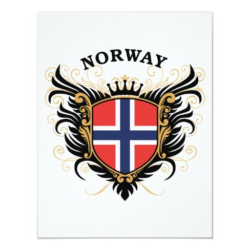 Norway 4.25x5.5 Paper Invitation Card