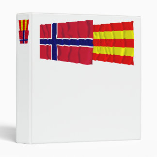 Norway and Aust-Agder waving flags Binder