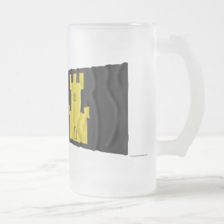Norway and Finnmark waving flags Frosted Glass Beer Mug