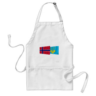 Norway and Møre og Romsdal waving flags Adult Apron