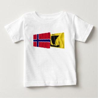 Norway and Nordland waving flags Baby T-Shirt