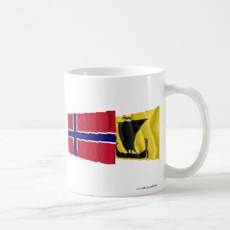 Norway and Nordland waving flags Coffee Mug