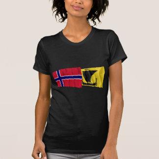 Norway and Nordland waving flags T-Shirt