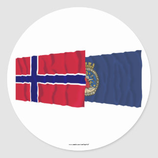 Norway and Oslo waving flags Stickers
