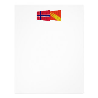 Norway and Østfold waving flags Letterhead