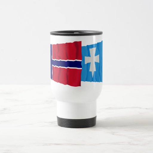 Norway and Rogaland waving flags 15 Oz Stainless Steel Travel Mug