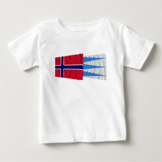 Norway and Sogn og Fjordane waving flags Baby T-Shirt