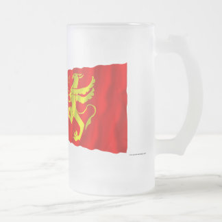 Norway and Troms waving flags Frosted Glass Beer Mug