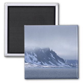 Norway, Arctic Circle, North Atlantic Ocean. 2 Inch Square Magnet