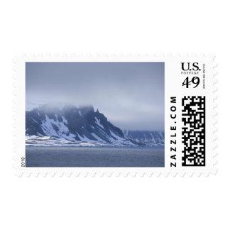 Norway, Arctic Circle, North Atlantic Ocean. Postage Stamp
