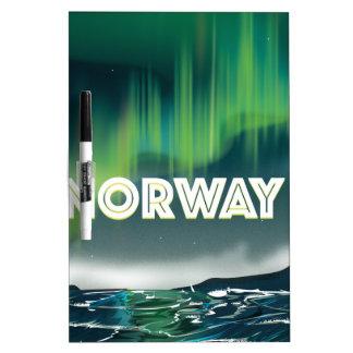 Norway Aurora Northern Lights Travel Poster Dry-Erase Board