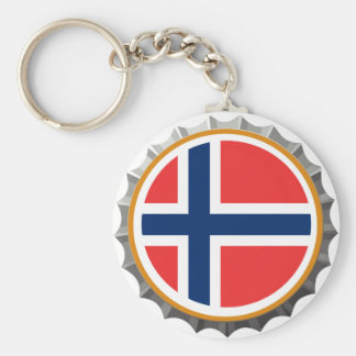 Norway beer cap keychain