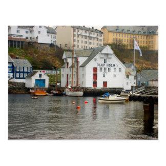 Norway, Bergen Boat yard Postcard