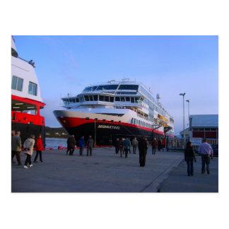 Norway, Bergen Cruise ship in port Postcard