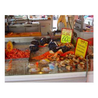 Norway, Bergen fish market Postcard
