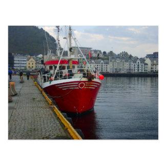Norway, Bergen, Fishing boat Postcard