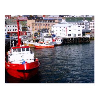 Norway, Bergen, Fishing boats Postcard