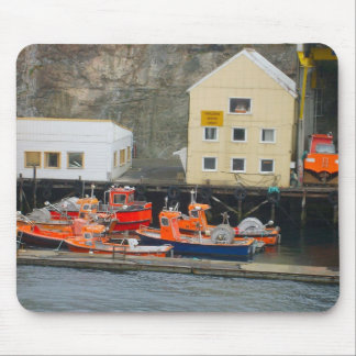 Norway, Bergen, Inshore fishing boats Mouse Pad