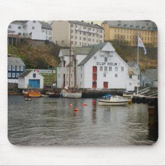 Norway, Bergen,marina and boatyard Mouse Pad