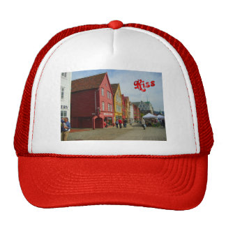 Norway, Bergen,painted houses on the waterfront Trucker Hat