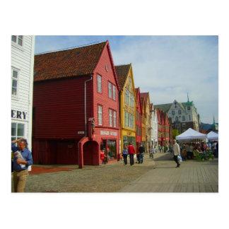 Norway, Bergen, painted houses Postcard