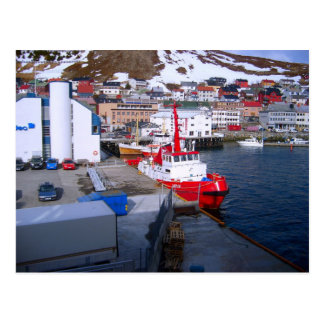 Norway, Bergen port and city Postcard