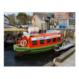 Norway, Bergen Port water taxi Postcard