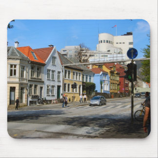 Norway, Bergen,residential area Mouse Pad