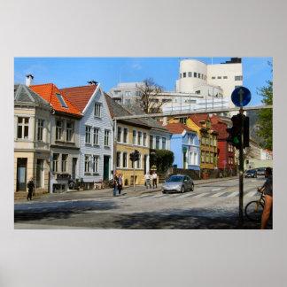 Norway, Bergen, Residential street in town Posters