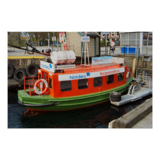 Norway, Bergen, Water taxi, mobile advertising Poster
