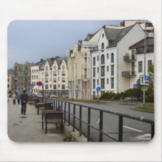 Norway, Bergen,waterfront street Mouse Pad