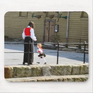 Norway, Bergen,Wearing the national costume Mouse Pad