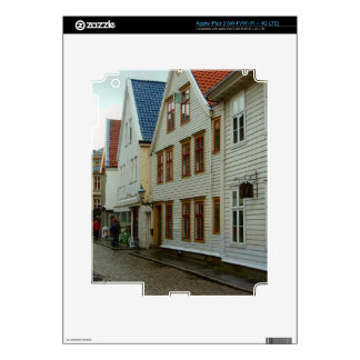 Norway, Bergen, wooden houses and cobbles iPad 3 Skins