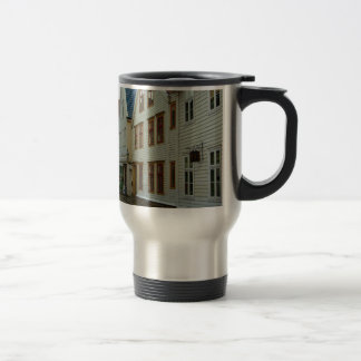 Norway, Bergen, wooden houses and cobbles Travel Mug