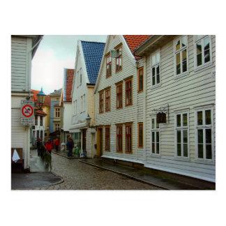 Norway, Bergen Wooden houses Postcard