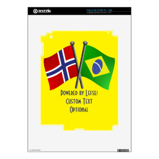 Norway Brazil Friendship Flag Device Cover Decal For The iPad 2