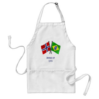 Norway Brazil Friendship Flags Adult Apron