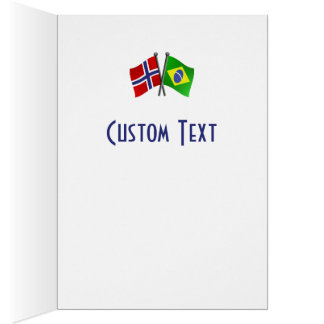 Norway Brazil Friendship Flags Card