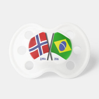 Norway Brazil Friendship Flags Pacifier