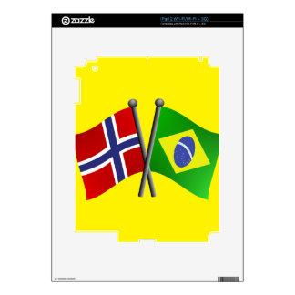 Norway Brazil Friendship Flags iPad 2 Skins