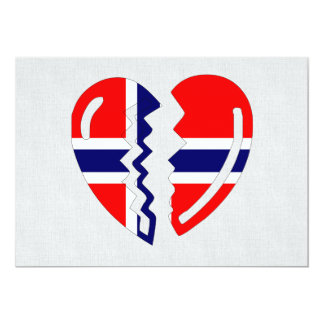 Norway Broken Heart Card
