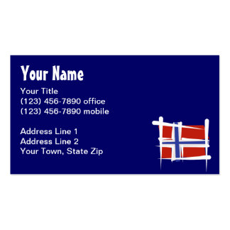 Norway Brush Flag Business Cards